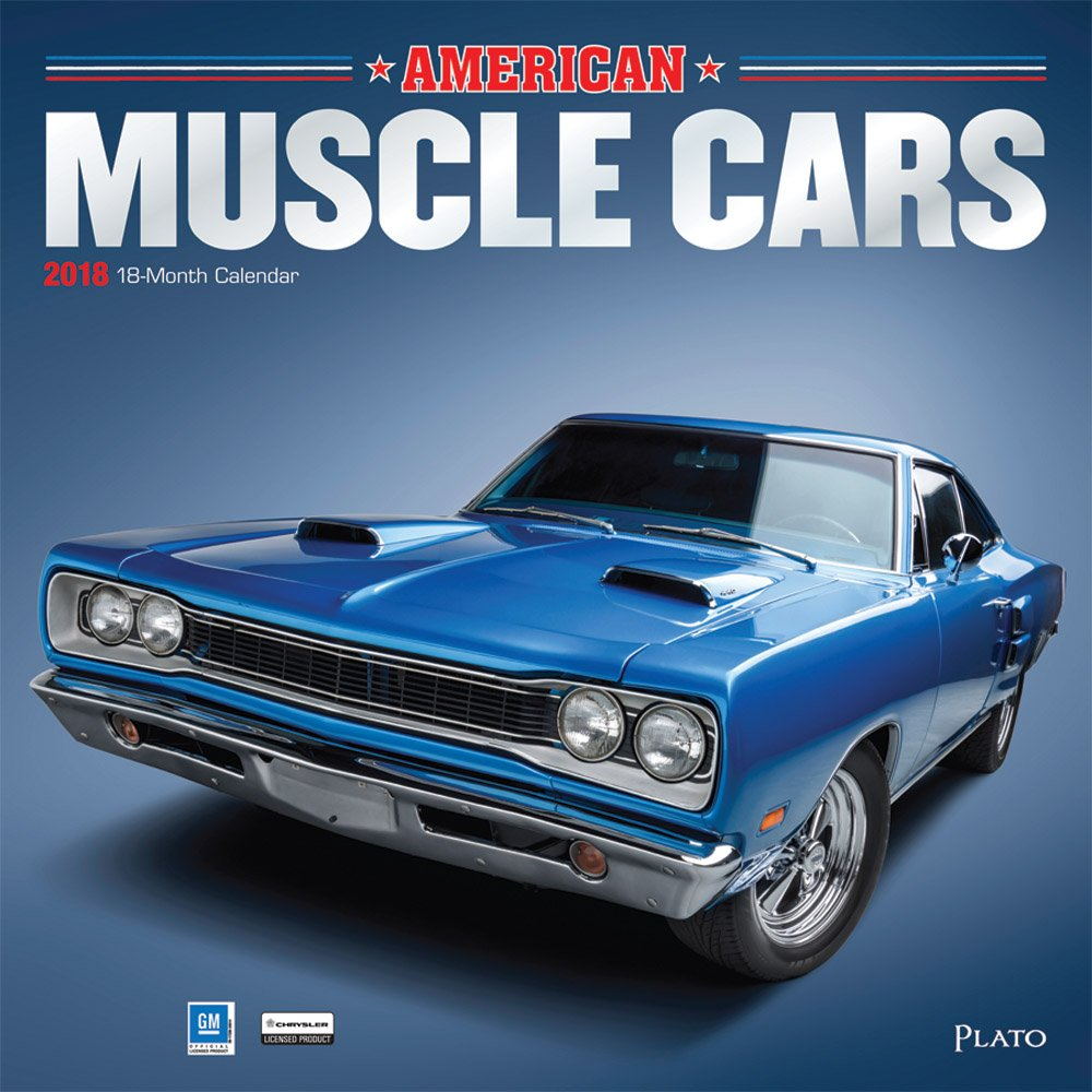 American Muscle Cars 2018 12 x 12 Inch Monthly Square Wall Calendar ...