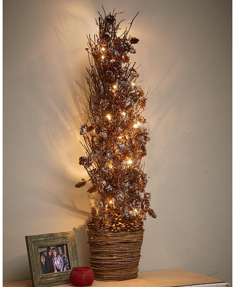 The Lakeside Collection Woodland Forrest 39'' Lighted Half Trees -
