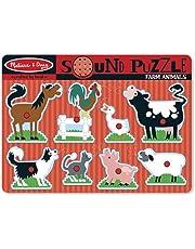 Melissa & Doug 10726 Farm Animals Sound Puzzle, Multicolour