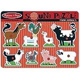 Melissa & Doug 10726 Ahşap Sesli Yapboz Çiftlik Hayvanları