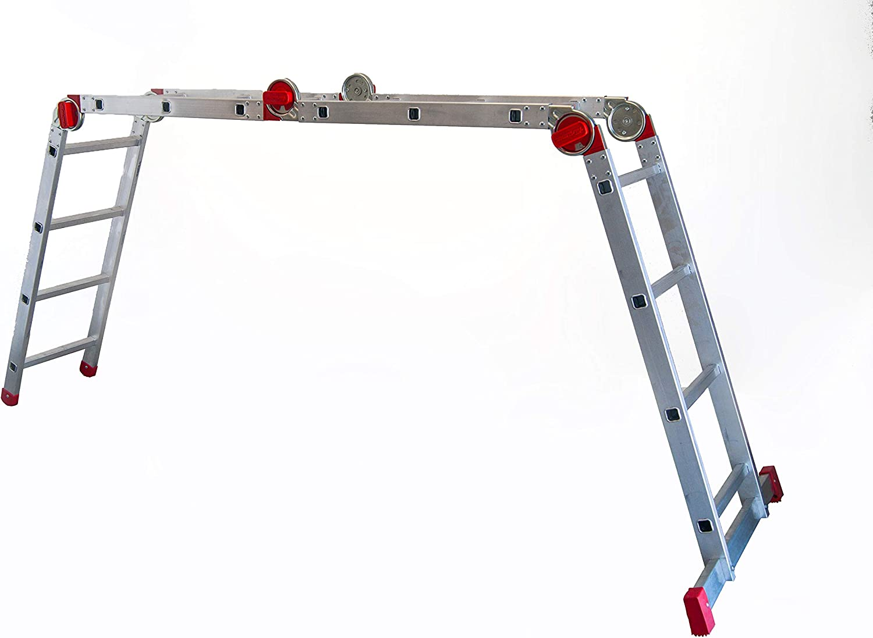 Faraone EA 614 Escalera Articulada Multiusos, Metálico: Amazon.es: Bricolaje y herramientas