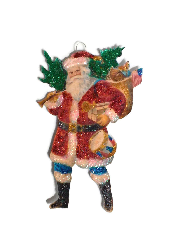 Americana christmas ornaments - Amazon Com Christmas Tree Ornament Decoration Americana St Nicholas Santa Patriotic Flag Handmade