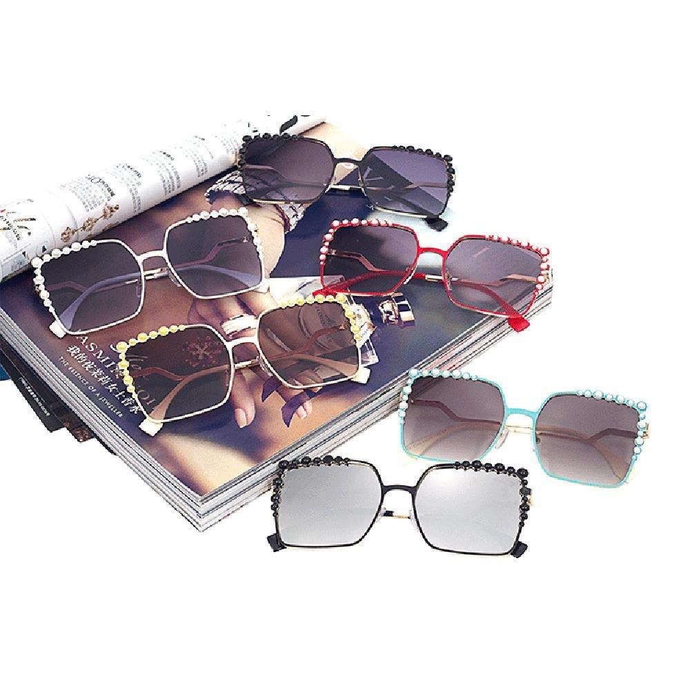 Z&YQ Sonnenbrille quadratische Perle Einlage Rahmen Gezeiten Europäische Brille eyewear , f