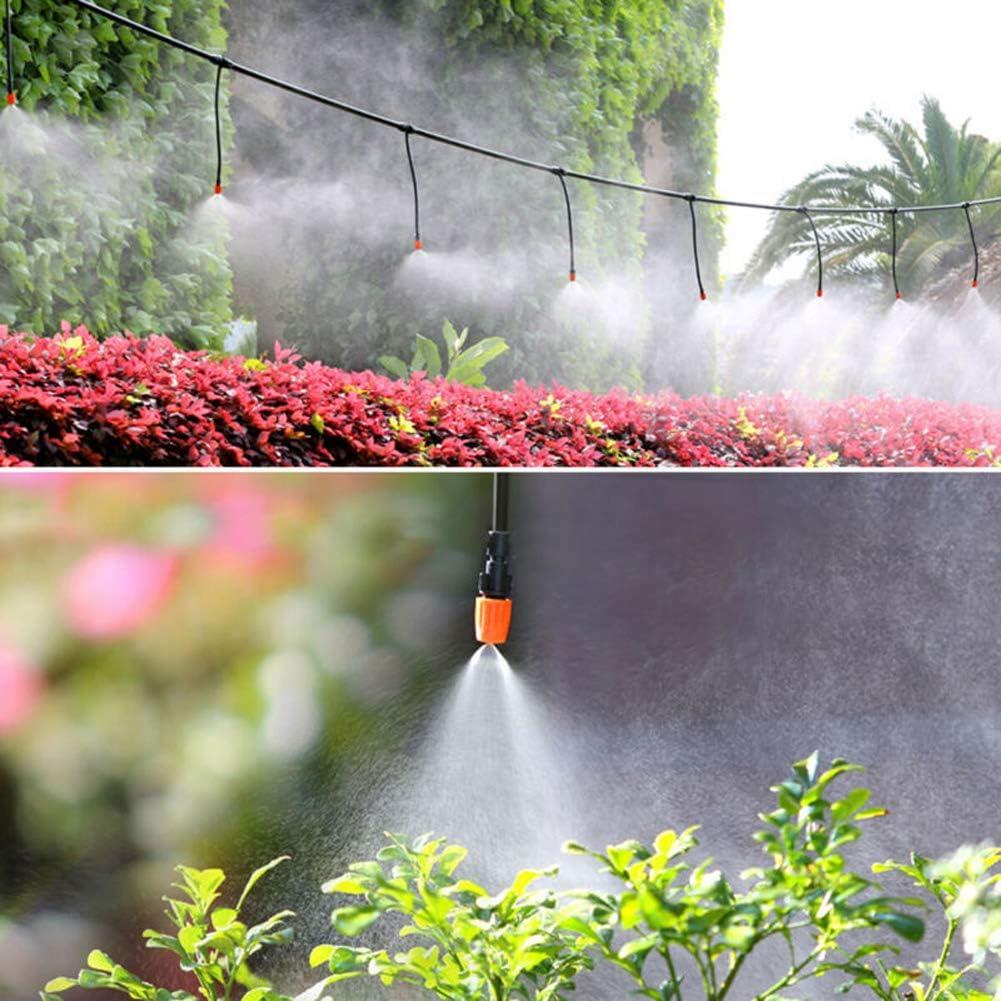 Deeabo 165Pcs 15M Kit di Irrigazione a Goccia Micro Kit di Sistemi di Irrigazione Automatica per Serre Giardino Micro-Irrigatori di Irrigazione a Goccia Kit di Attrezzi da Giardinaggio