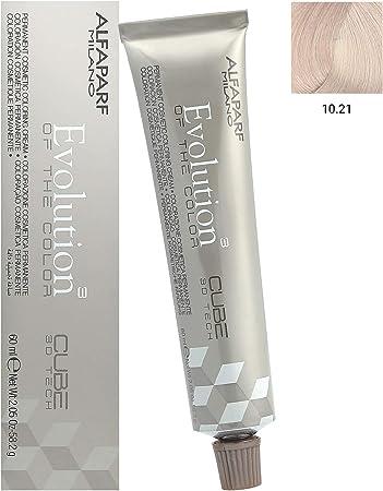 Alfaparf Evolution Cube 3D Tech Permanent Hair Color 10.21 Lightest Violet Ash Blonde 2.05 oz by Alfaparf Milano