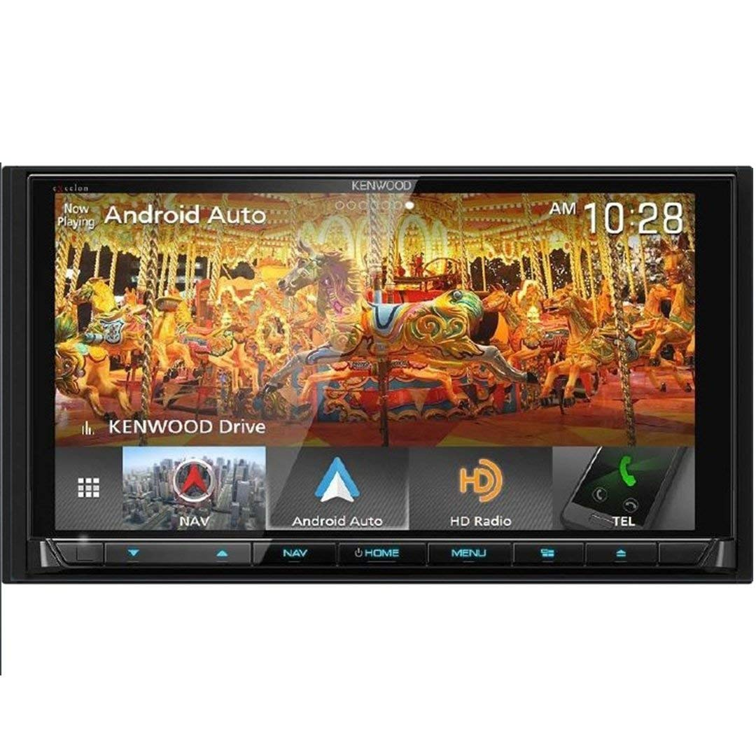 Kenwood eXcelon DNX995S 6 75 Inch DVD Navigation Receiver with CarPlay,  Android Auto and Bluetooth