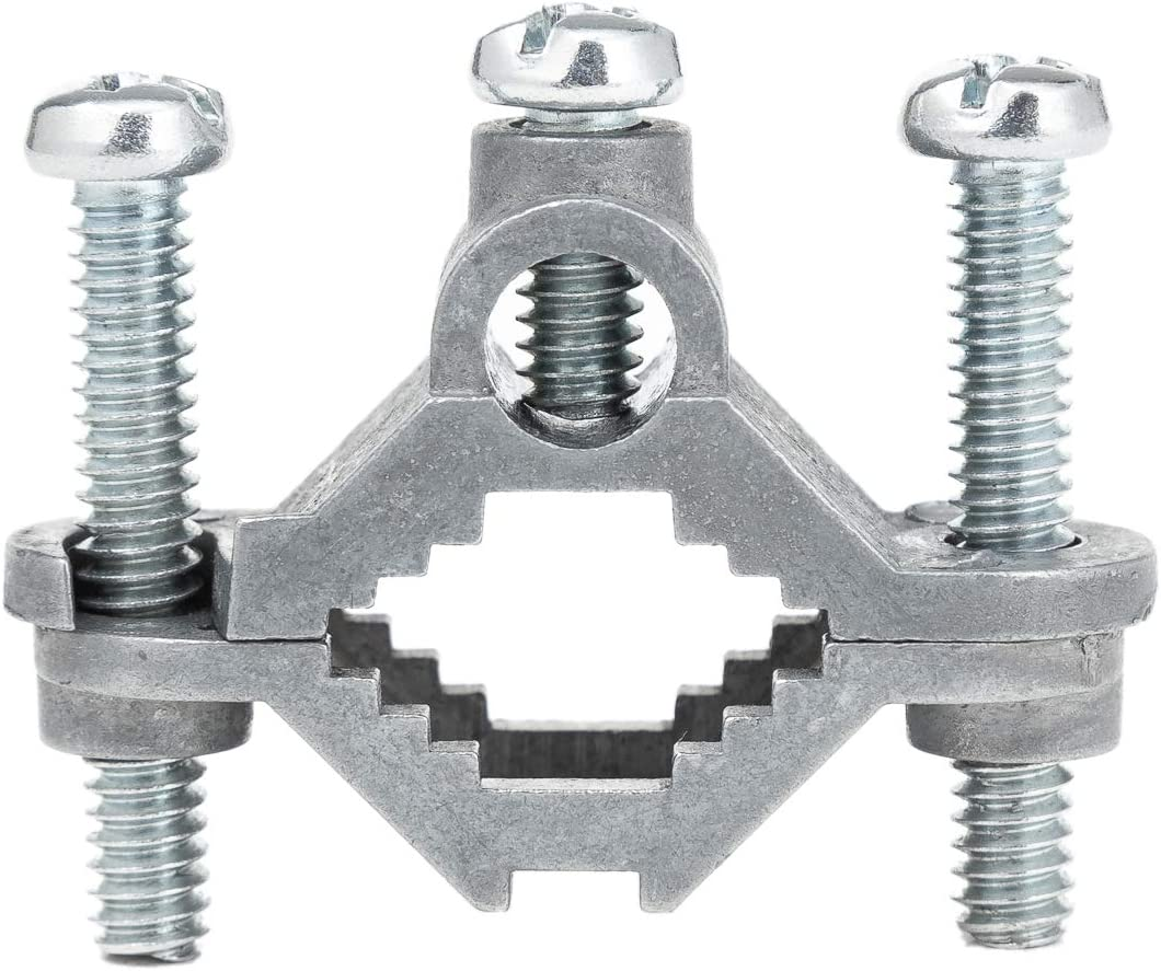 Antenna Mast Grounding Clamp, Ancable 2-Pack Electrical Ground Rod Clamp 1/2 to 1 Inch for Antenna, Coax Cable, TV Tower, Electronic Fence, etc