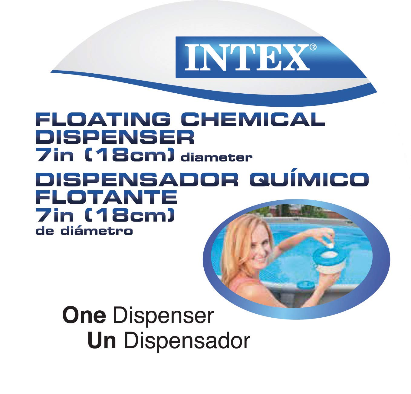 Amazon.com : Intex Recreation Corp 29041EP N/AA Floating Chemical Dispenser for Pools, 7-Inch, One Size, White/Blue : Swimming Pool Chemicals And Supplies ...