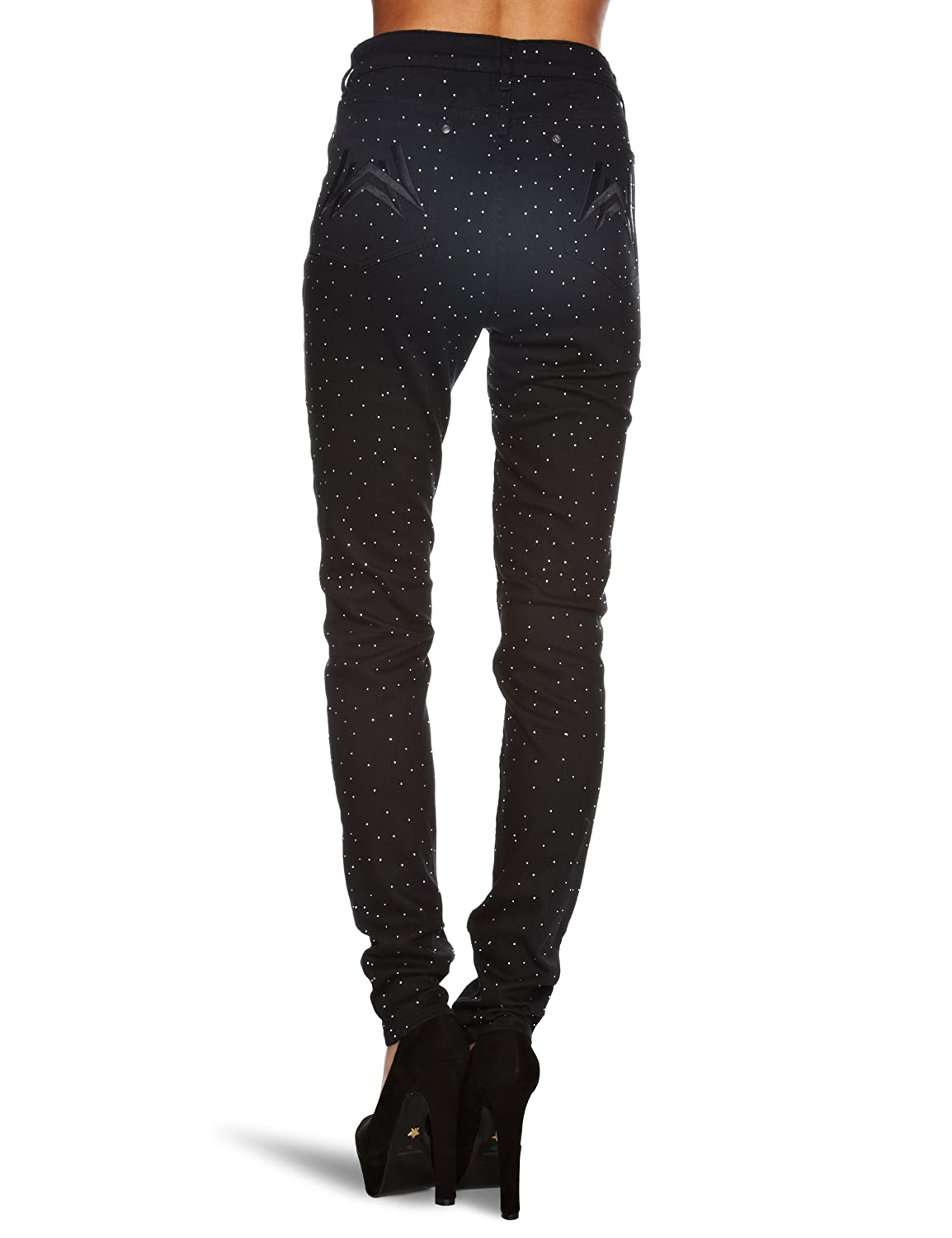 Discount Excellent Nicekicks Wizard Gina Diamante Skinny Womens Jeans Jet Black Wizard Jeans qixUT5