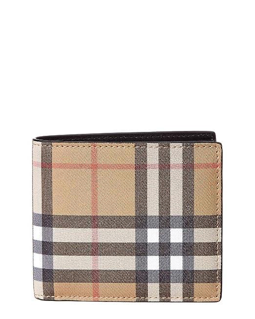 0a62be71c Burberry cartera billetera bifold de hombre en piel nuevo ccbill marrón:  Amazon.es: Ropa y accesorios