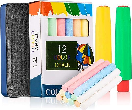 Gaetooely 12 X Batons de Craie Color/éS Trottoir Tableau Noir Enfants Art Artisanat Couleur
