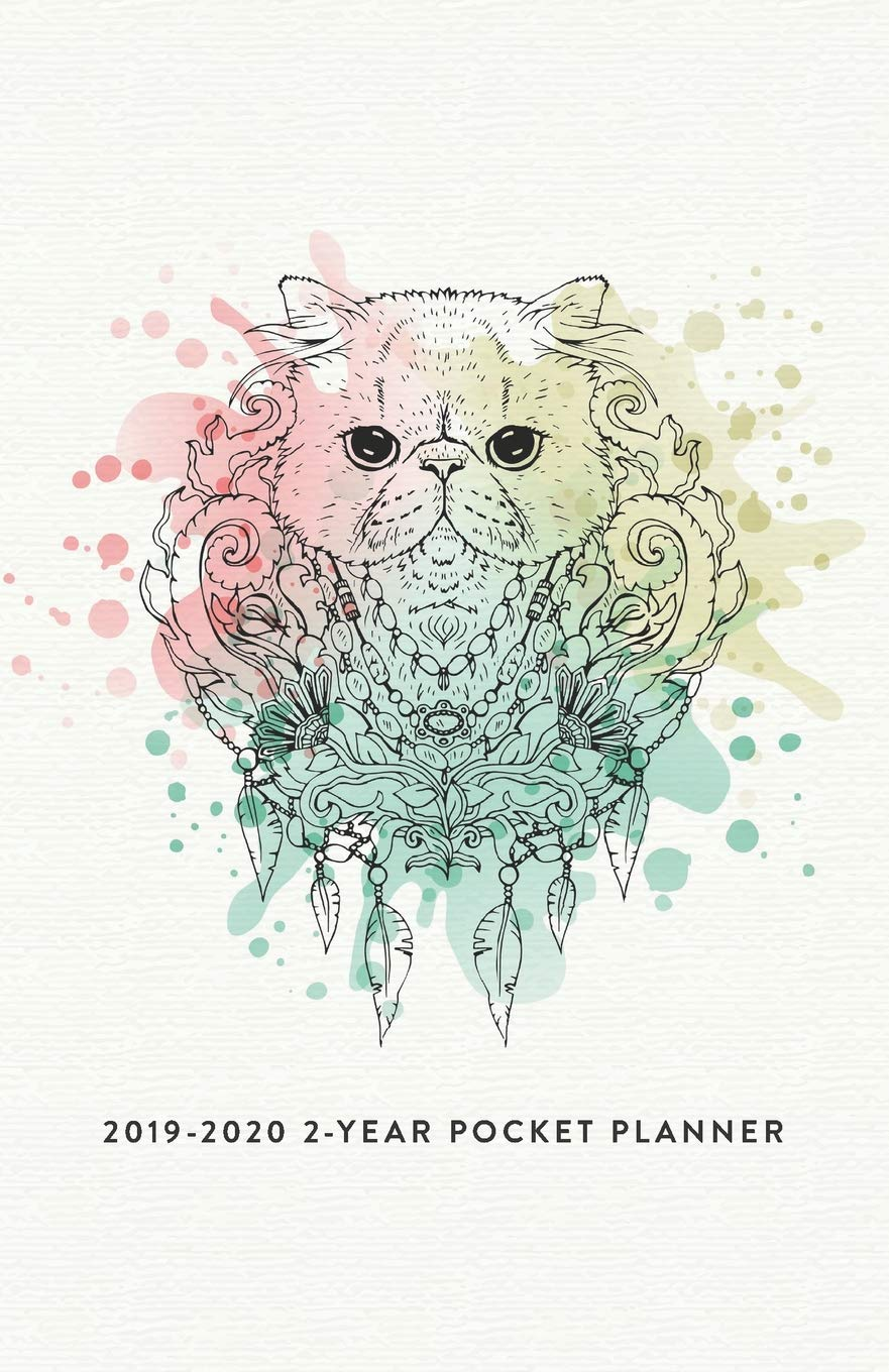 2019-2020 2-Year Pocket Planner: The Cat Lovers Pocket ...