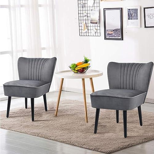 Cheap Giantex Set of 2 Velvet Accent Chair living room chair for sale