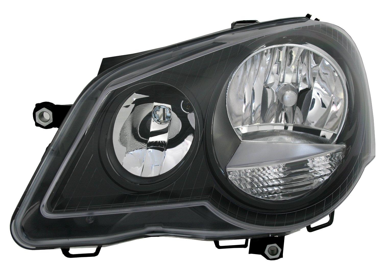 LWR Stellmotoren GTI Optik TYC Scheinwerfer Set Schwarz inkl
