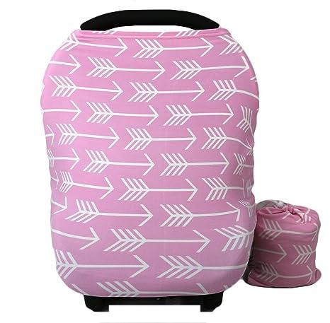 Kiddo Care Nursing Cover Infinity Bufanda de enfermería para lactancia materna (Flechas rosadas)