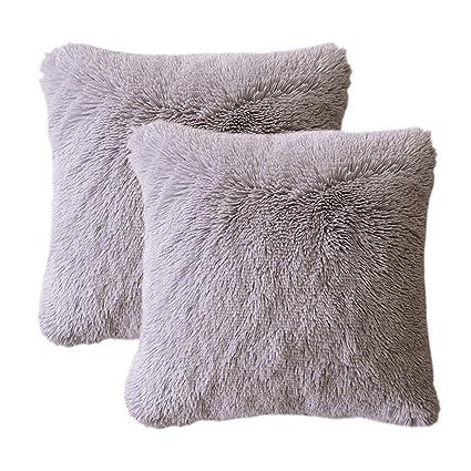 Amazon LIFEREVO 40 Pack Shaggy Plush Faux Fur Decorative Throw Mesmerizing Shaggy Decorative Pillows