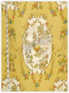 VinMea Canvas Poster 8X12 Inches - French Country Toile Retro Poster for Dorm Home Bedroom Wall Art Decor