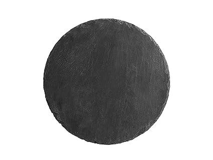 Piatti Cucina In Ardesia : H h ardesia set piatti rotondi nero cm amazon casa