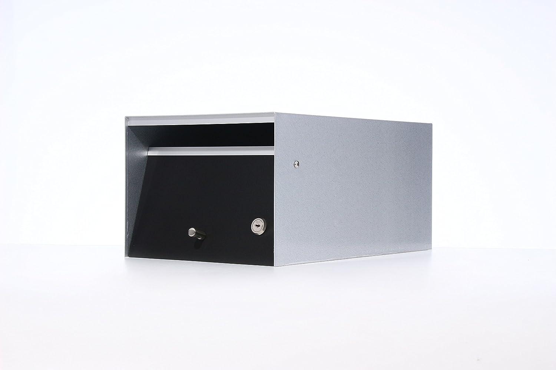 Box Design 郵便受け ポスト Urban(アーバン) [玄関先/2way 埋め込み式スタンド式/鍵付/A4厚手サイズ対応/ブラック] B07D27SMWC 28620 ブラック ブラック