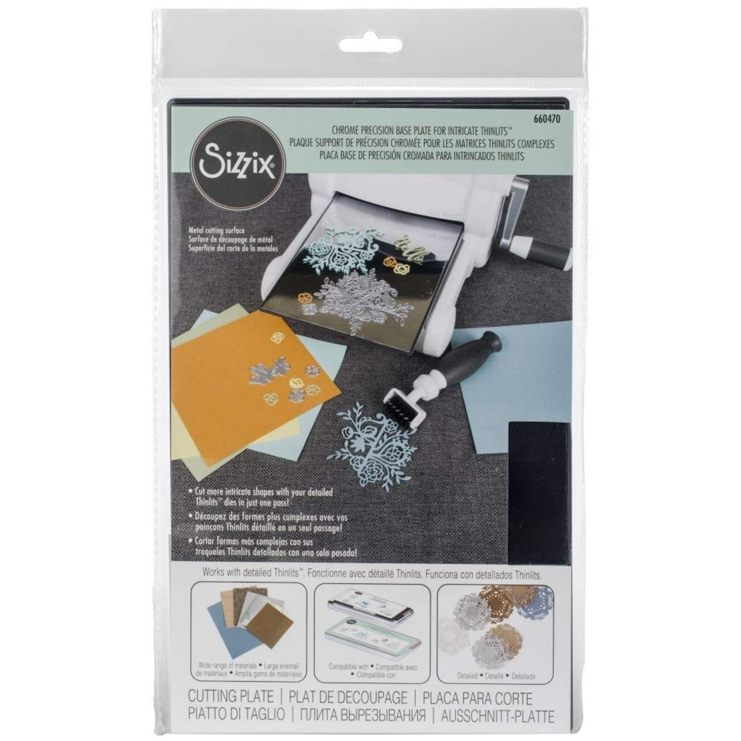 Sizzix Accessory - Chrome Precision Base Plate for Intricate Thinlits Dies 4336978958