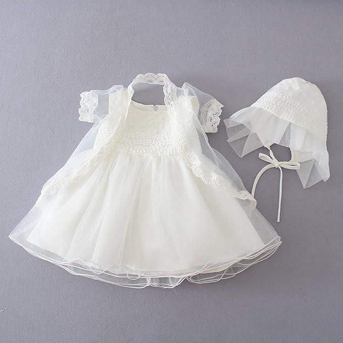 Selene - Ropa de bautizo - para bebé niña beige Marfil 6 Meses: Amazon.es: Ropa y accesorios