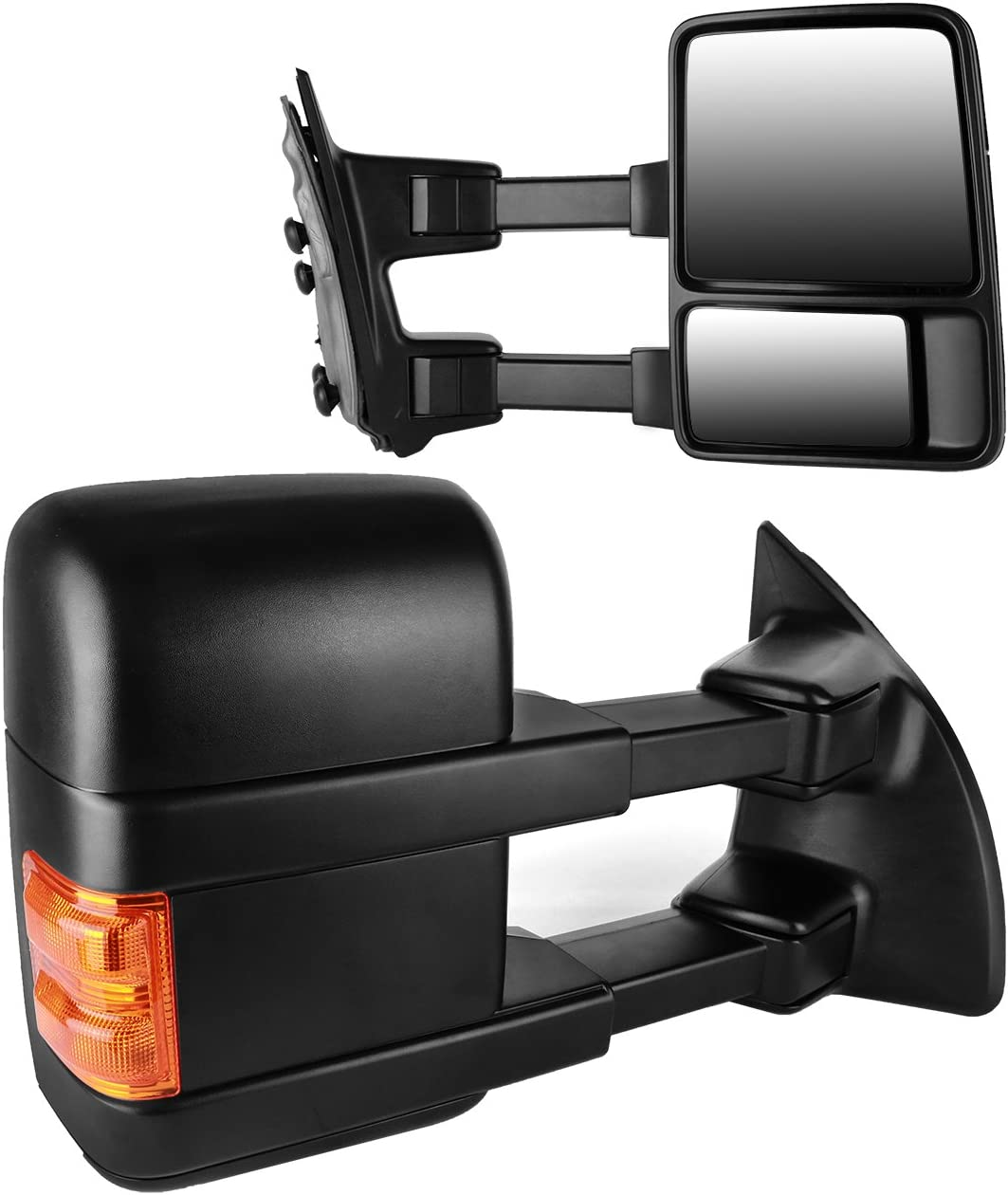 Manual Side Mirror W// Amber Turn Signal Towing Mirrors Pair For 08-15 F250 F350