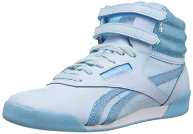 bb1834be3ca333 Reebok Girls  Freestyle Hi Sneaker CD-Dreamy Blue Digital BL 2 M US