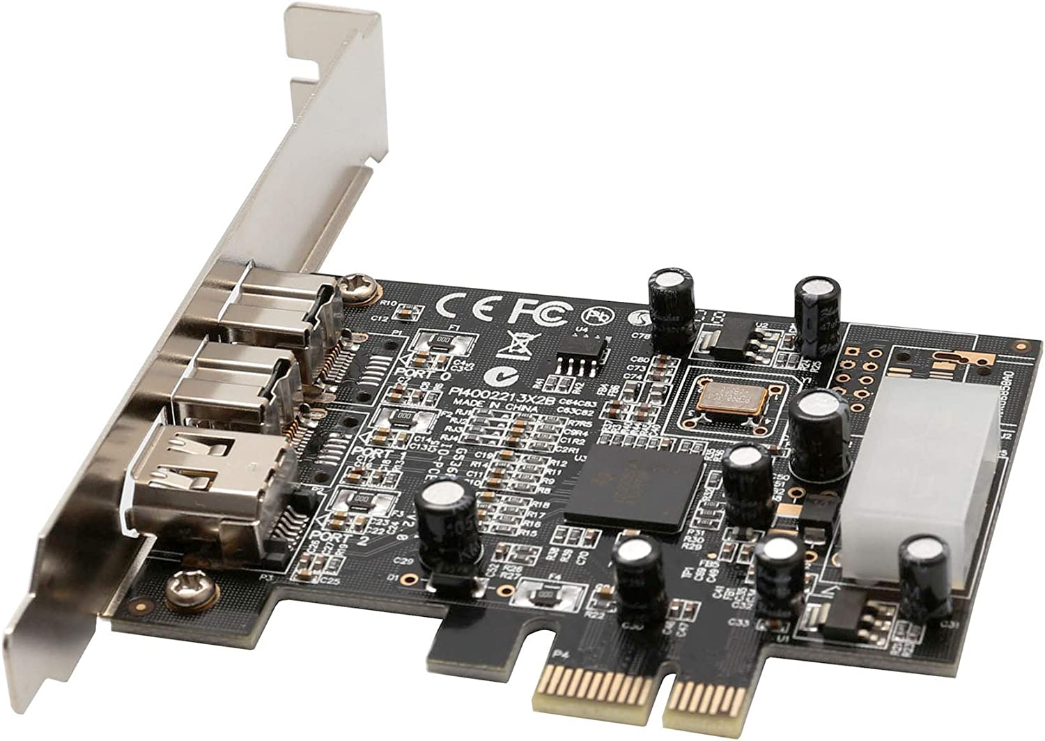 Syba SY-PEX30016 3 Port IEEE 1394 Firewire 1394B /& 1394A PCIe 1.1 x1 Card TI XIO2213B Chipset Requires Legacy Driver for Windows 8 10