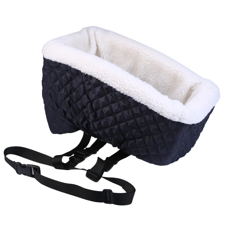 AOLVO Asiento Elevador pequeñ o, có modo Asiento de Coche para Mascotas cinturó n de Seguridad, hasta 4 kg (Azul Claro) cómodo Asiento de Coche para Mascotas cinturón de Seguridad
