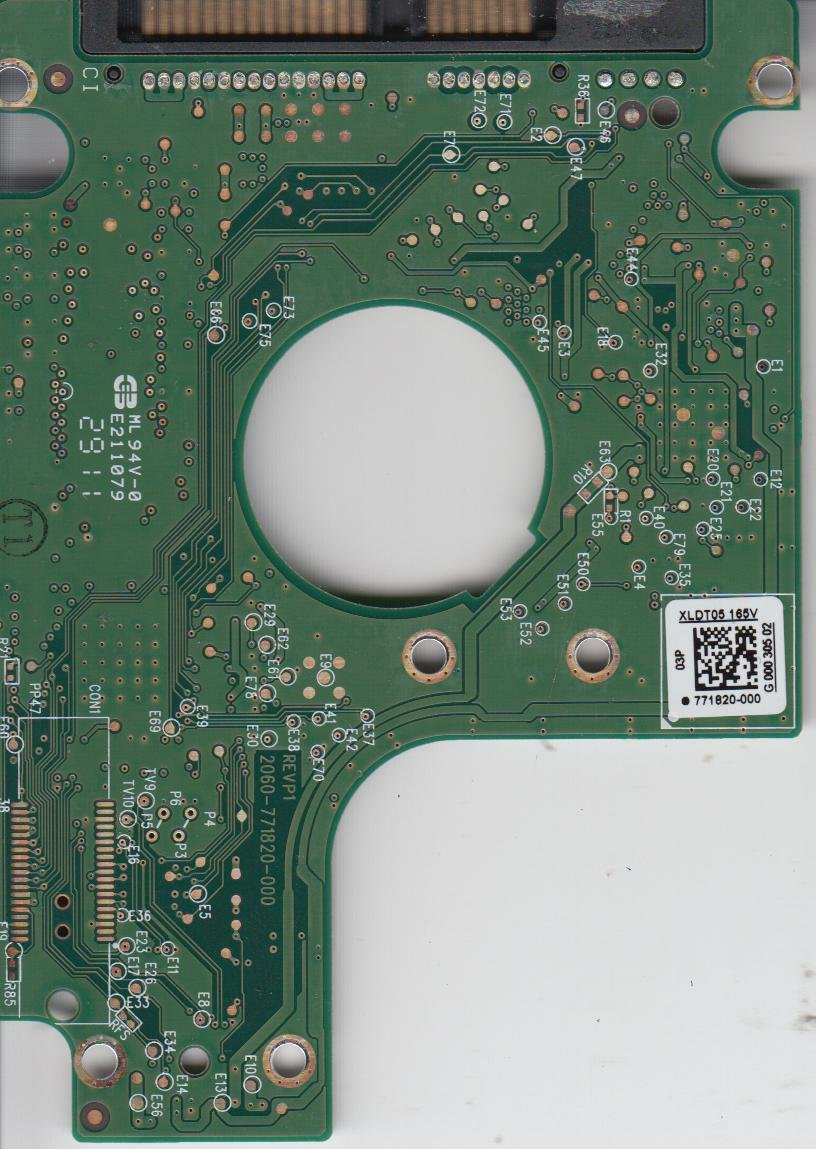 WD6400BPVT-75HXZT3, 771820-000 03P, WD SATA 2.5 PCB Western Digital PCB-WD6400BPVT-75HXZT3