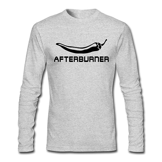 Los hombres de manga larga Afterburner Chili quemaduras doble outlet gris camisetas
