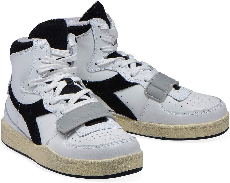 Diadora - Sneakers MI Basket Used für Mann und Frau C0351 White Black