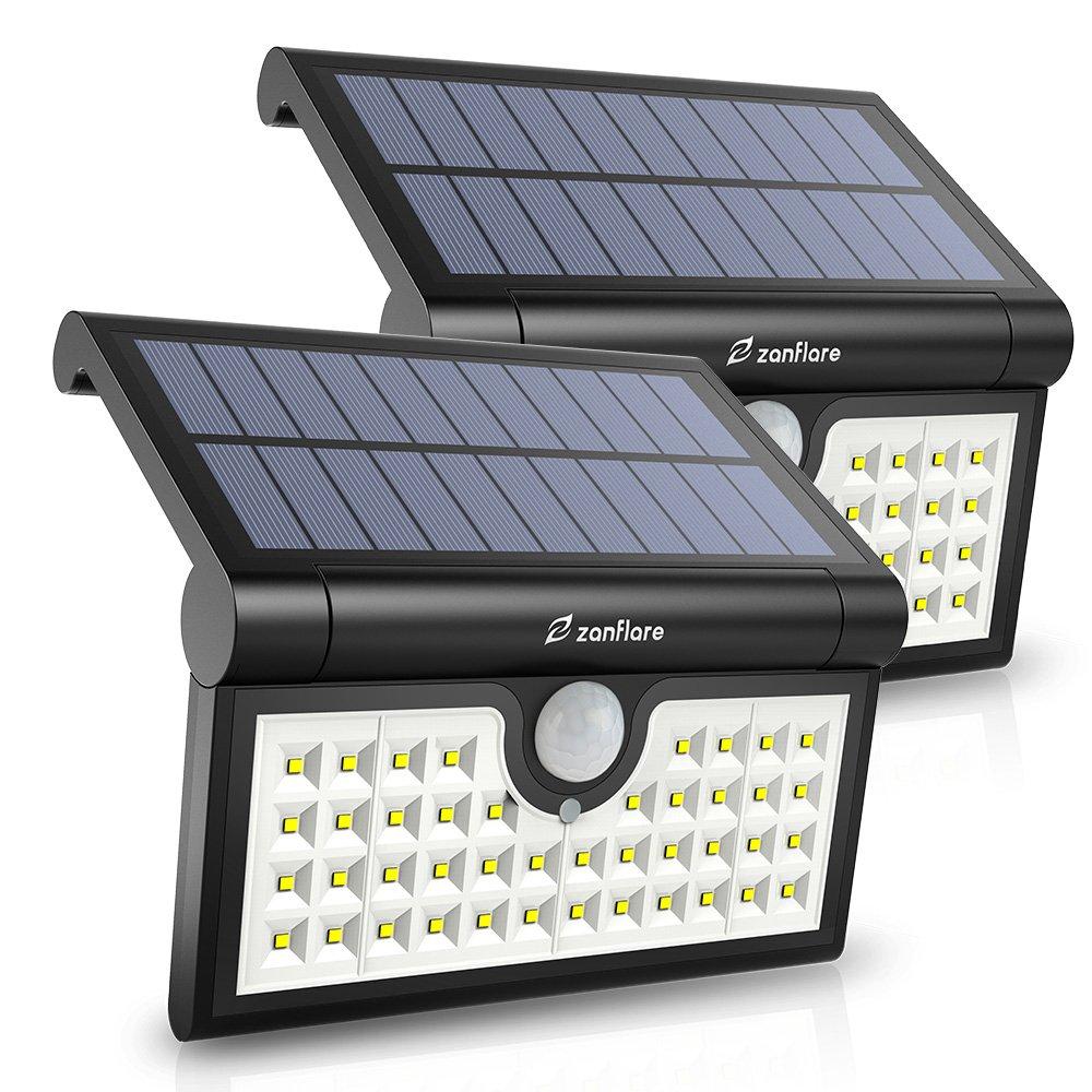 2 pezzi Zanflare 42 LED Luce Solare