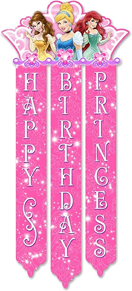 Amazon.com: Cartel de cumpleaños de princesa Disney: Toys ...