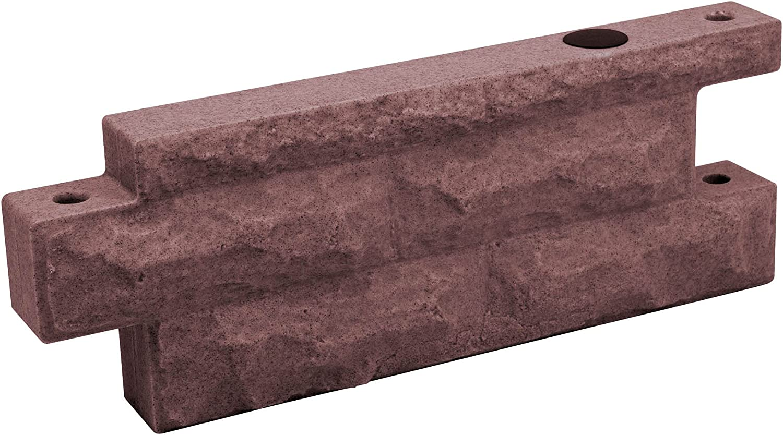 Good Ideas Garden Wizard Polyethylene 2' Wall Section Stone Border - Red Brick