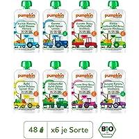 Pumpkin Organics QUERBEET Bio Gemüse Quetschies, 48er Pack (48 x 100g) - Babybrei ab dem 12. Monat