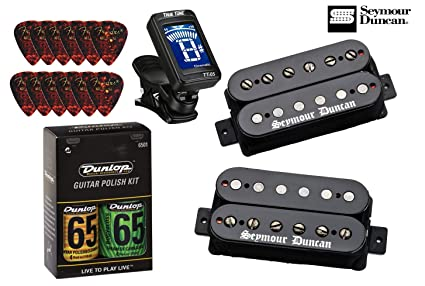 Amazon seymour duncan black winter matched hb pickup set with seymour duncan black winter matched hb pickup set with true tune tuner dunlop care kit cheapraybanclubmaster Image collections