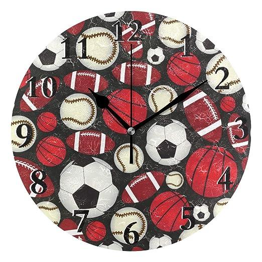 LZXO - Reloj de Pared (Bolas de Baloncesto, balón de fútbol ...