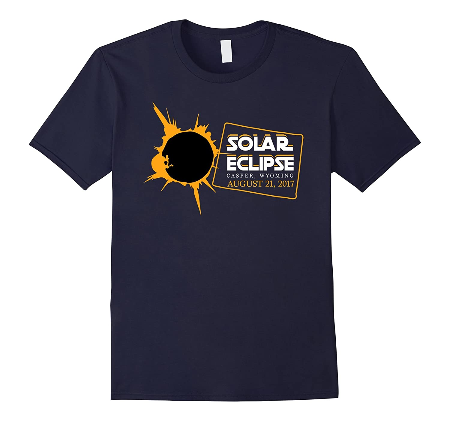 Casper Wyoming Map Circle Total Eclipse 2017 T-shirt-CD