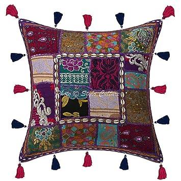 Amazon.com: Stylo Culture Cotton Boho Cushion Cover ...