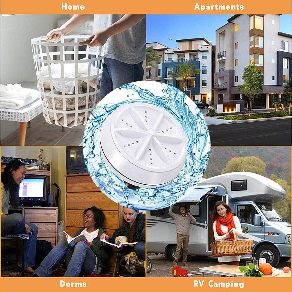 Inicio de Camping dormitorios Negocio RV Viaje de la Universidad Habitaciones SHOWGG Lavadora port/átil Gayrrnel Mini Lavadora ultras/ónica Turbo Lavadora con Cable USB