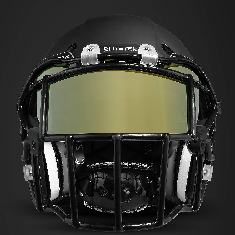Universal Fit for Youth /& Adult Helmets! EliteTek COLOR Football Helmet Visor