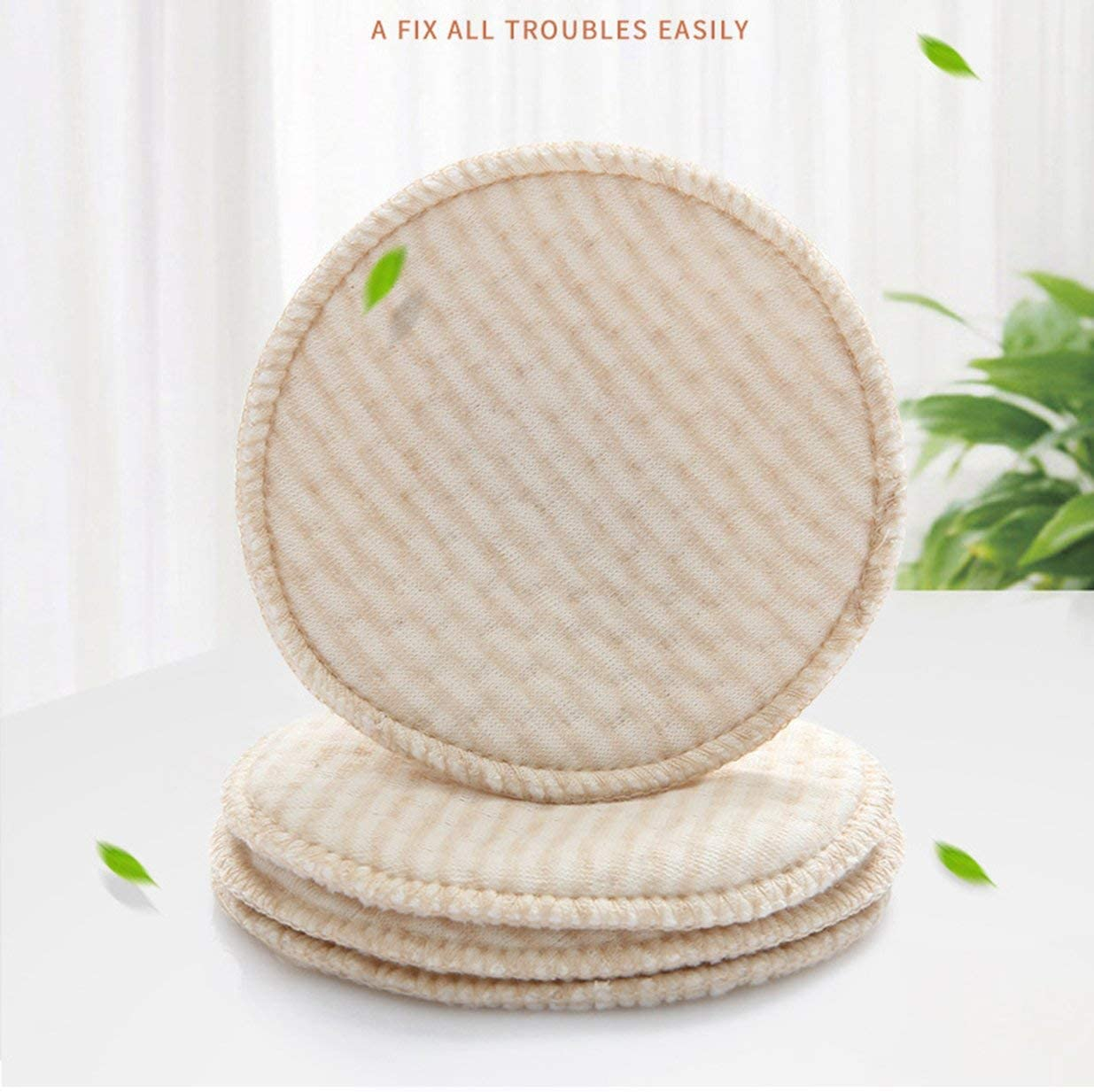 KUR 4PCS Non-Woven Cotton Collection Nursing Breast Pads Breastfeeding Absorbent Cover Stay Dry Cloth Pad Coffee