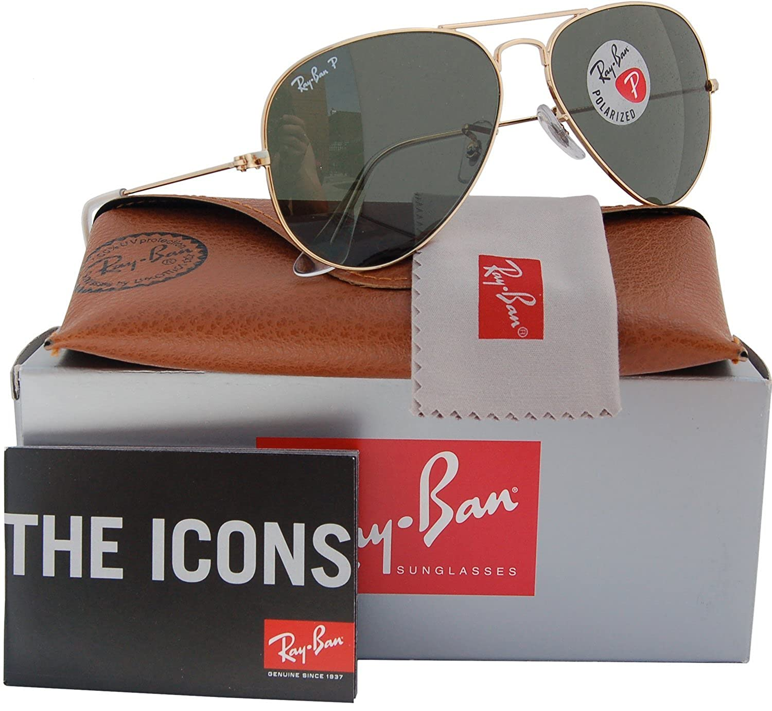 d9a66f910c Ray Ban Aviator 3025 Gold Frame Green Lens Rb 1002 « Heritage Malta