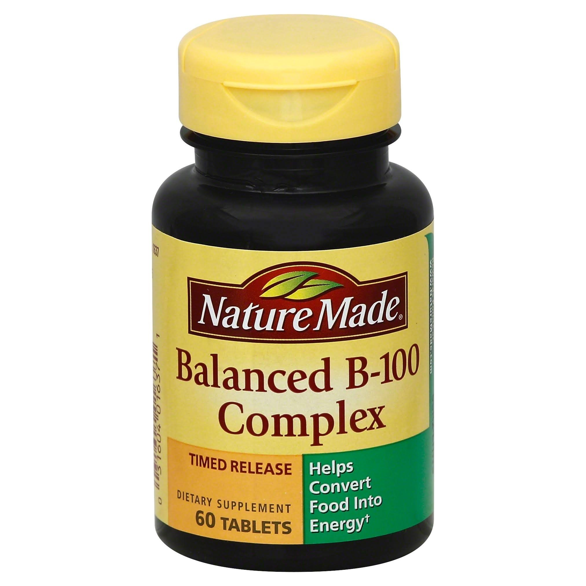 Nature Made Balanced Vitamin B-100 Complex Tablets 60 ea (Pack of 5)