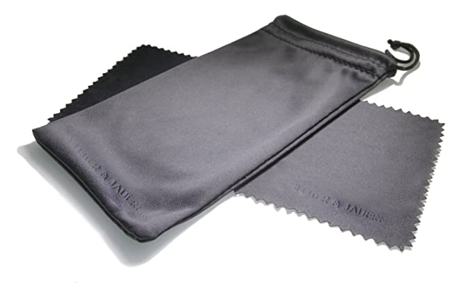 Bolsa / Estuche y Paño de Limpieza de Microfibra - Negro - Proteger sus Gafas de arañazos y permitir un almacenamiento seguro - Una cuerda de plástico ...