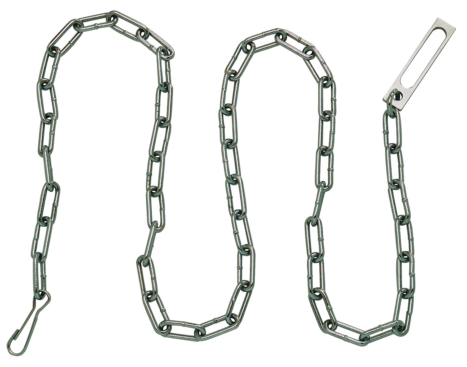 Peerless Handcuff Company Security Chain with Oversize Pass-Through Link and Heavy Duty Snap at Either End (78' ), Nickel 4781