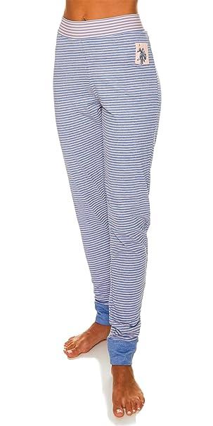 Amazon.com  U.S. Polo Assn. Womens Skinny Leg Super Soft Long Pajama ... 5ddaab083