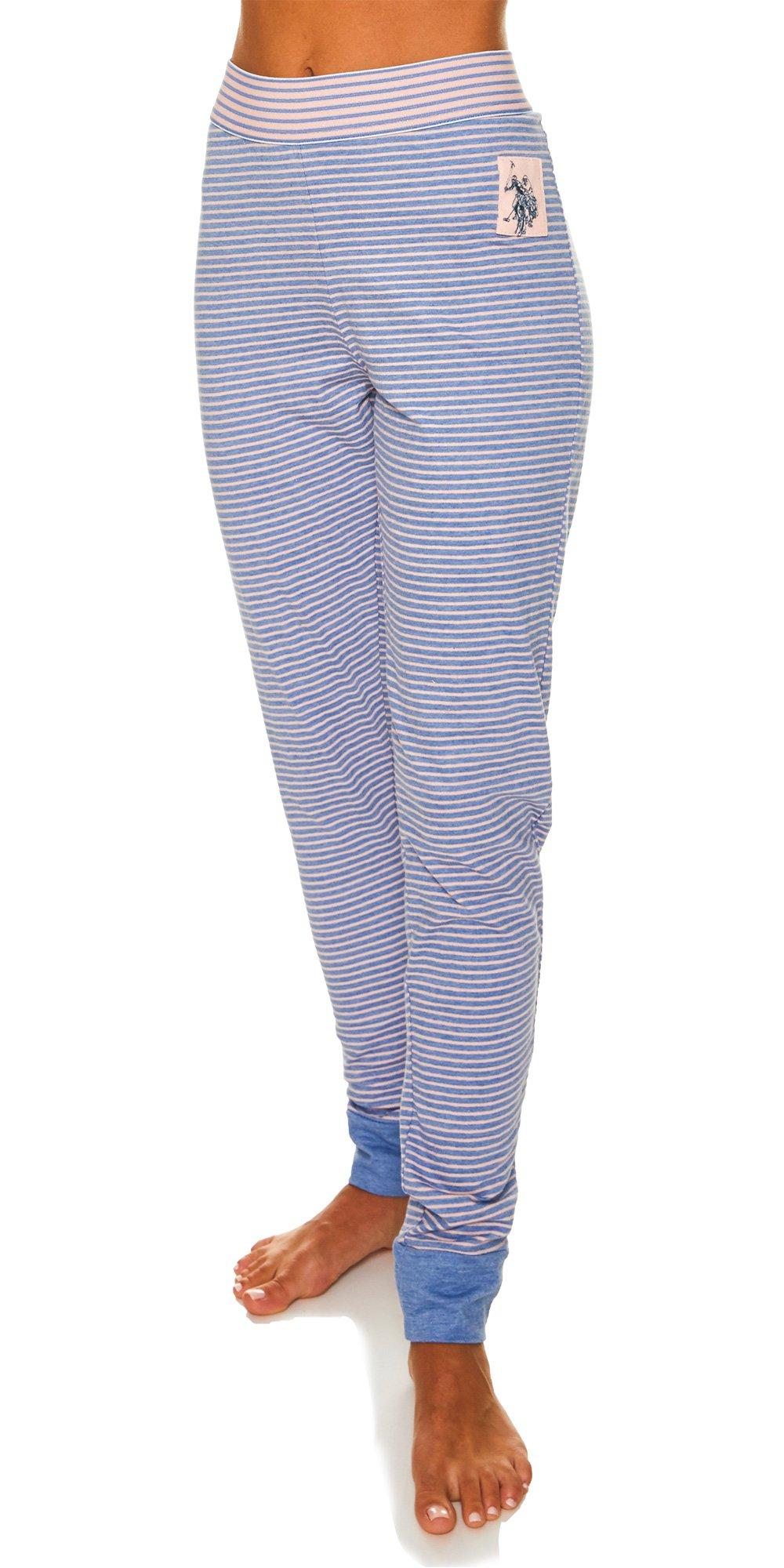 U.S. Polo Assn.. Womens Lounge Pajama Sleep Pants Light Denim Heather Large