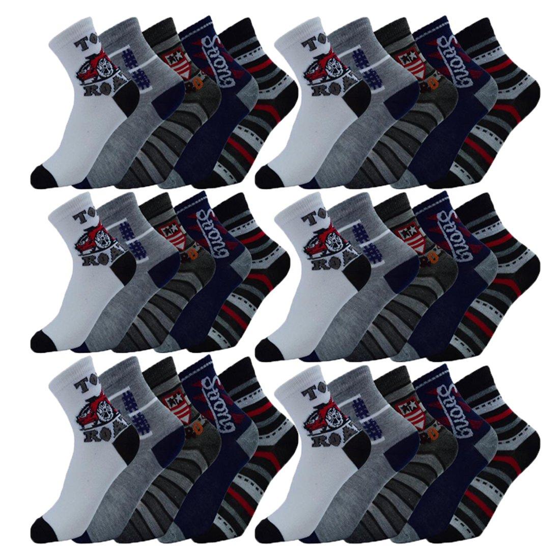 Unbekannt 10 Paar Kinder Jungen Socken Gr/ö/ße 27-39 zur Auswahl